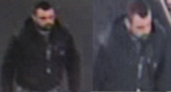 Photos of a suspect in the bank explosion Friday that killed two Oregon police officers