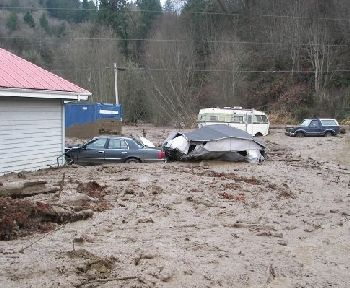 Clatskanie mudslide in Oregon, 12-13-07