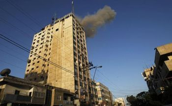 Gaza TV facility being attacked by Israel