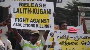 Protest against Tamil disappearances
