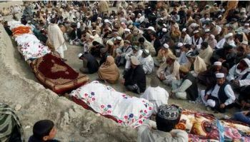 Ten young Afghan girls laid to rest