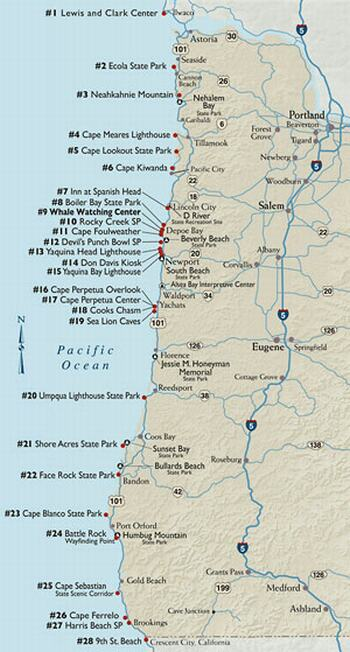 Winter Whale Watch Now Underway Along The Oregon Coast Salem - Map of the state of oregon