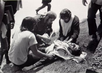 war protester shot down during a demonstration at Kent State University