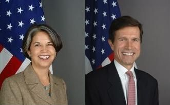 Under Secretary of State for Civilian Security, Democracy, and Human Rights Maria Otero and Assistant Secretary of State for South and Central Asian Affairs Robert O. Blake, Jr.