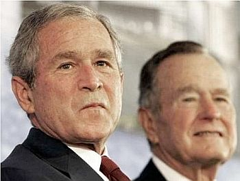 The two Presidents Bush