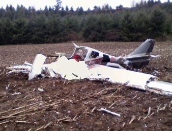 Triple fatal plane crash site in Linn County, Oregon, 2-8-08