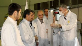 Iran's President Mahmoud Ahmadinejad unveiled the country's latest nuclear achievements on February 15, 2012.