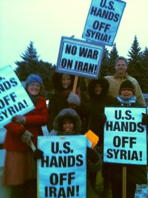 US protest against war in Syria and Iran
