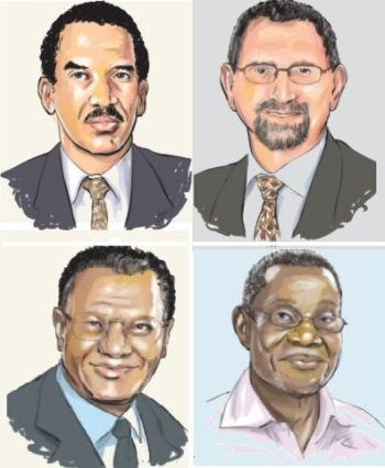 Four African leaders