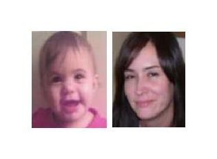 One-year old Jaylin Boudria and abduction suspect Kimberly Johnson