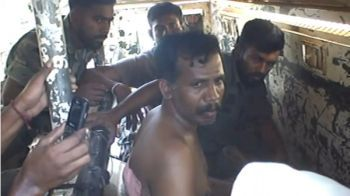 Screengrab of a video obtained by Human Rights Watch shows LTTE leader Colonel Ramesh in Sri Lankan army custody-courtesy: HRW.org