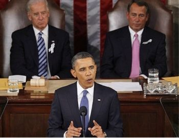 Obama during the State of the Union Address
