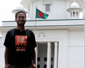 William Nicholas Gomes in front of the Bangladesh Supreme Court