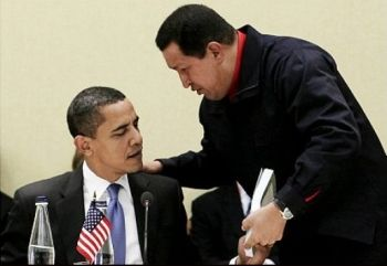 Obama and Chavez