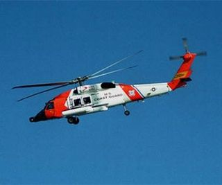 Coast Guard used an HH-60 Jayhawk helicopter