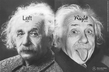 Einstein left and right brain