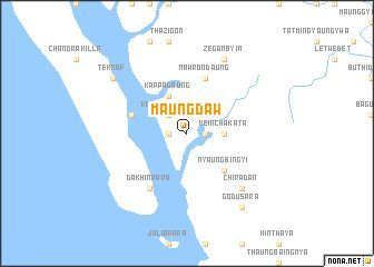 Map of Maungdaww, Burma
