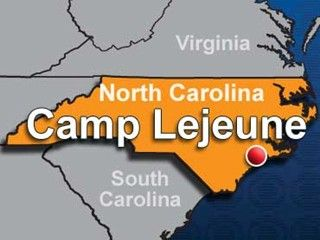 Camp Lejeune on the map