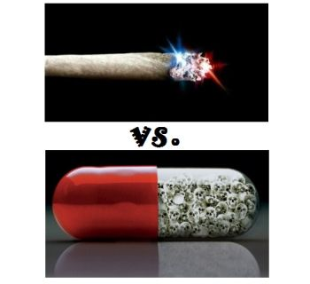 marijuana versus pills for pain treatment