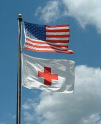 United States and Red Cross flag