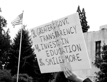 Photo from the kick-off of 'Occupy Salem' by Dexter Phoenix