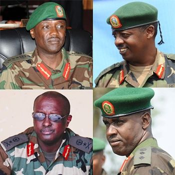 Rwandan top military officials
