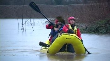 Salem flood victims being rescued