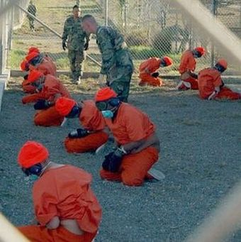 Infamous scene from Guantanamo Bay