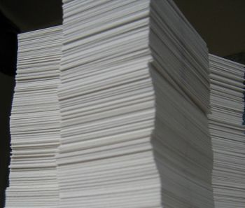Stacks of political bills