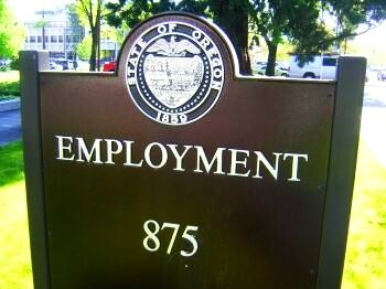 Oregon Employment Division sign