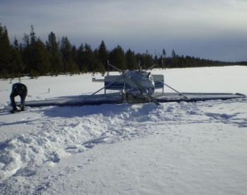 Crashed Cessna near Chemult, Oregon 1-25-08