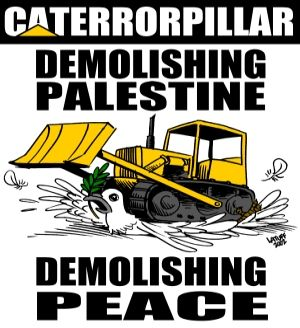 Caterpillar terror in Palestine