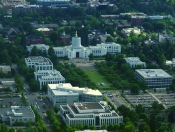 Aerial view of the Oregon capitol by Tim King Salem-News.com
