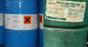 Barrels of PCE (perchloroethylene)and TCE (trichloroethylene)