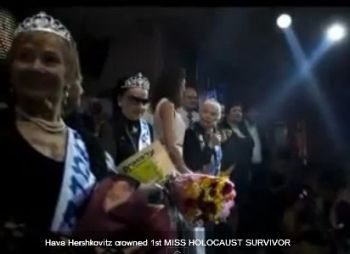 "Fourteen women who lived through the horrors of World War II paraded on stage Thursday night in an unusual pageant, vying for the honor of being Israel's first ""Miss Holocaust Survivor."""
