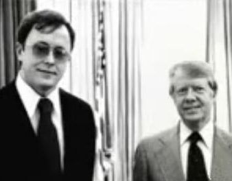Former U.S. President James Carter with Michael Francke.