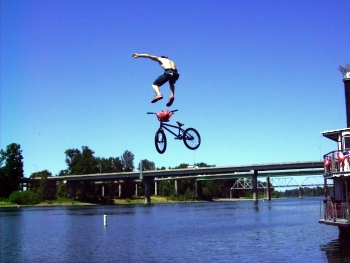 Kids are taking bike jumping in a new direction