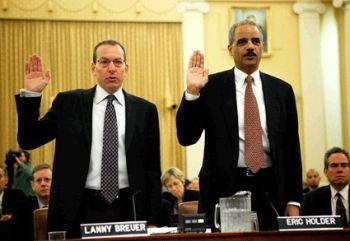 Attorney General and Assistant Attorney General testify before a Senate committee on the Gunrunner scandal.