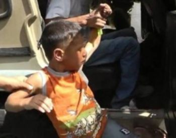 5-year old child in Hebron for throwing stones at soldiers.