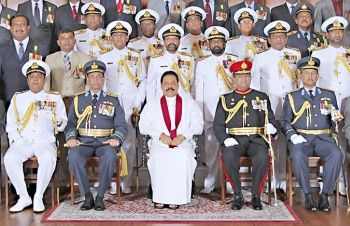 Rajapaksa and his henchmen