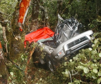 Fatal crash scene near Port Orford