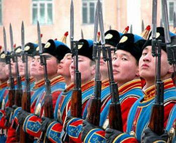 Mongolian troops