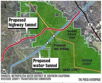 Proposed Irvine tunnel