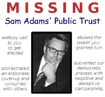 From the Website for the group attempting to recall Portland, Oregon Mayor Sam Adams