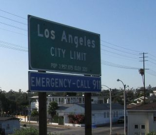 Los Angeles city sign