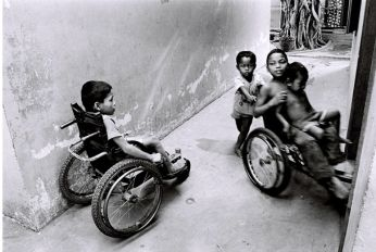 Kids in wheelchairs