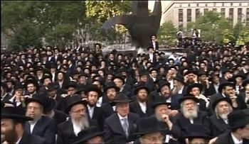 Orthodox Jews inNYC protest Israel