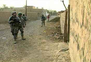101st Airborne soldiers on patrol in Iraq, summer of 2008.