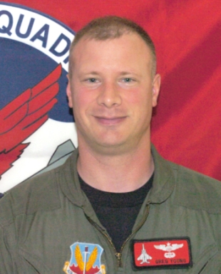 Major Greg Young died over the weekend in a jet fighter training exercise off the Oregon Coast