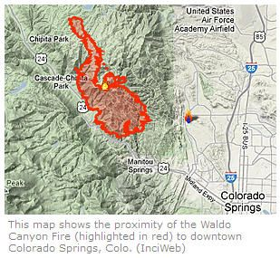 Colorado Springs fire map